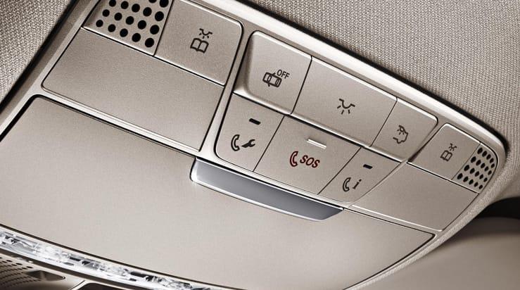 Appel d'urgence intégré Mercedes-Benz